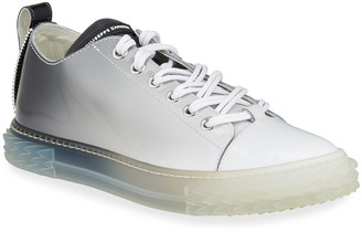 Giuseppe Zanotti Men's Blabber Ombre Patent Low-Top Sneakers