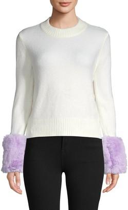 Saks Fifth Avenue Faux Fur Knit Sweater