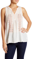 Joie Marl Embroidered Gauze Tank