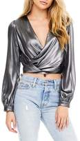 ASTR the Label Langley Surplice Crop Top
