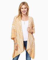 Charming charlie Boho Patterned Drapey Cardigan