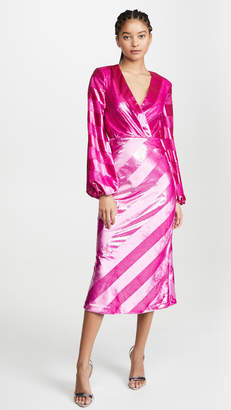 Rebecca Vallance Maison Plunge Midi Dress
