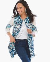 Chico's Artisan Printed Linen Jacket