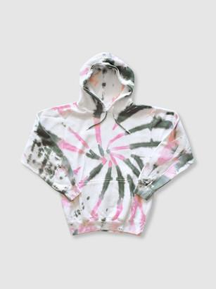 Worthy Threads Olive + Pink Tie Dye Hoodie