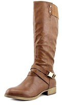 Wanted Embrace Women Round Toe Synthetic Brown Knee High Boot.