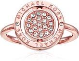 Michael Kors Flip Glitz Tone Ring, Size 7
