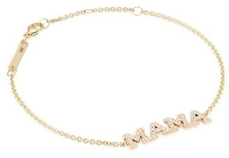 Zoë Chicco Mama 14K Yellow Gold & Diamond Bracelet