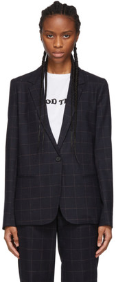 6397 Navy Windowpane Perfect Blazer