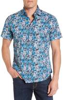 Stone Rose Floral Print Sport Shirt