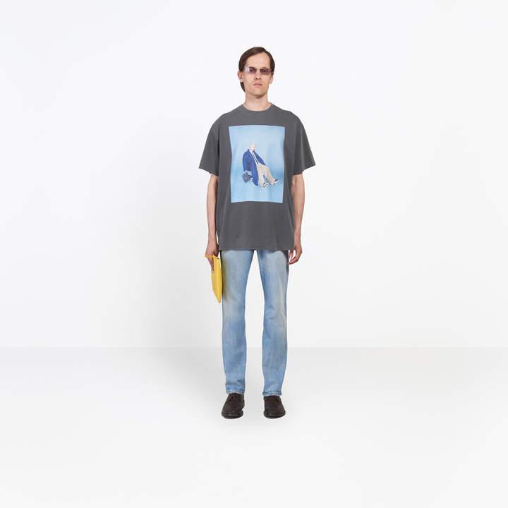 Balenciaga Campaign photo printed regular T-shirt