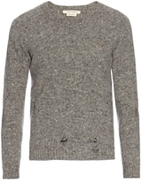 Marc Jacobs Olympia distressed wool and cashmere-blend sweater