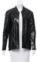 Theyskens' Theory Leather Open Front Jacket w/ Tags