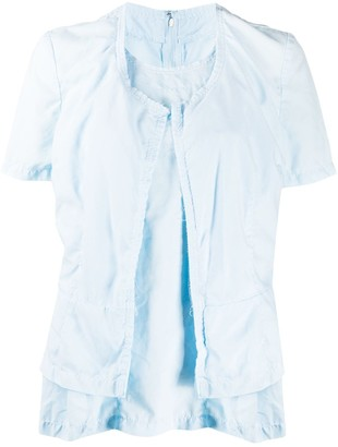Comme des Garcons layered-look raw hem T-shirt