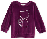 First Impressions Baby Girls' Long-Sleeve Velour Top, Only at Macy's