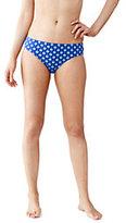Lands' End Women's SwimMates Mid Waist Bikini Bottoms-Black Geo