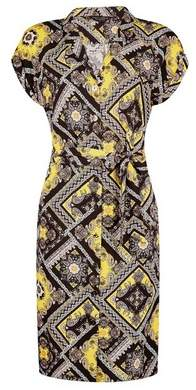 Dorothy Perkins Womens Yellow Paisley Print Shirt Dress, Yellow