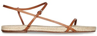 The Row Bare flat leather sandals