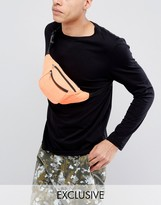 Reclaimed Vintage Inspired Bum Bag In Neon Orange