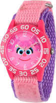 Sesame Street Girls Pink Abby Cadabby Time Teacher Strap Watch W003159