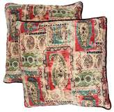 Dransfield and Ross Embroidered Velvet Throw Pillows