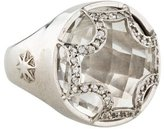 Elizabeth Showers Rock Crystal Maltese Ring
