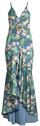 PatBO Floral High-Low Mermaid Dress