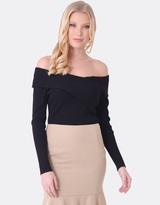 Forcast Alana Off Shoulder Knitted Sweater