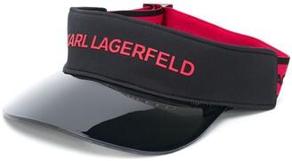 Karl Lagerfeld Paris Logo-Print Visor