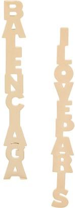 Balenciaga Logo Lettering Drop Earrings