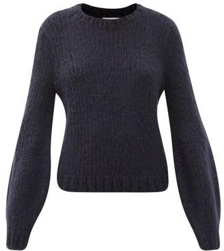 Gabriela Hearst Clarissa Lantern-sleeve Cashmere Sweater - Navy