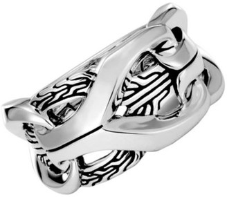 John Hardy Sterling Silver Mens Classic Chain Ring