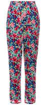Joie Marceline Multicoloured Floral Print Silk Trousers