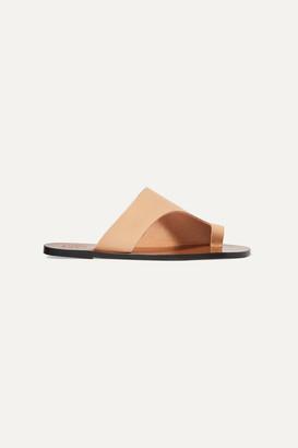 Atelier Atp ATP Rosa Cutout Leather Sandals - Beige