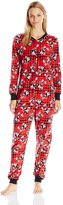 Briefly Stated Women's Mickey Fun Plaid Union Suit