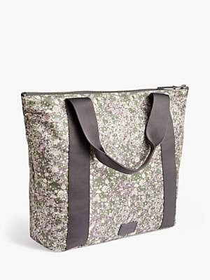 Jigsaw Textured Marble Weekend Bag, Grey/Multi