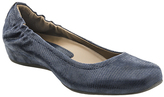 Earthies Navy Leather Tolo Flat