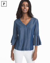 White House Black Market The Carmen Petite Denim Blouse