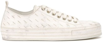 Ann Demeulemeester downey washed laser cut sneakers