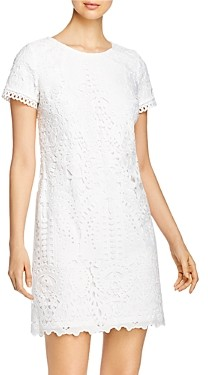 Karl Lagerfeld Paris Short-Sleeve Lace Dress