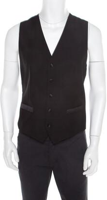 Dolce & Gabbana Black Wool and Silk Tailored Waistcoat M
