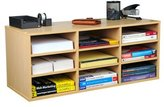 Venture Horizon Wooden Wall Mounted Foldable Desk Organiser With 9 Compartments