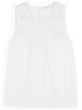 Lucky Brand Embroidered Yoke Tank Top