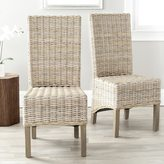 Safavieh Rural Woven Dining Pembrooke Unfinished Natural Wicker Side Chairs (Set of 2)