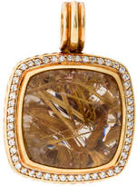 David Yurman Rutilated Quartz and Diamond Albion Pendant