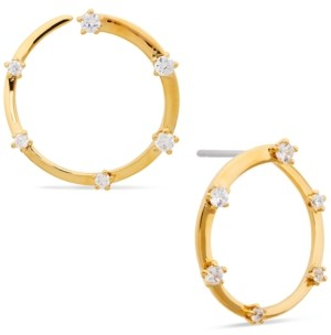 AVA NADRI Cubic Zirconia Front-and-Back Hoop Earrings