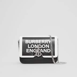 Burberry Small Logo Print Leather TB Bag