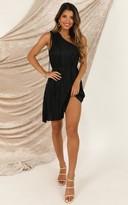 Showpo The Good Times dress in black pleat - 6 (XS) Dresses