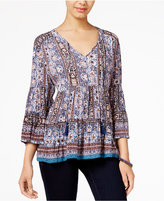 American Rag Printed Peasant Blouse, Only at Macy's