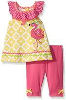 Nannette Baby Girls' 2 Piece Sleeveless Ruffled Collar Playwear Set