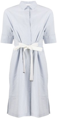 Fabiana Filippi Striped Shirt Midi Dress